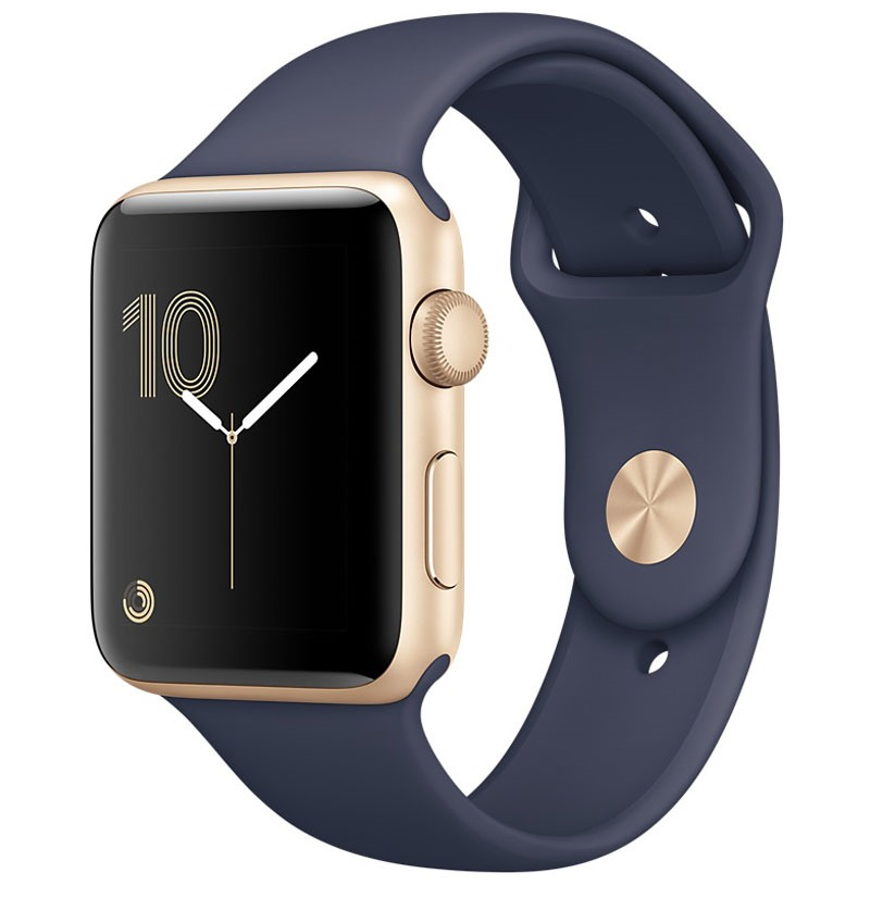 Apple Watch Series 2, 42mm Gold Aluminium Case with Midnight Blue Sport Band - 10169960 , 00343828 , 148_00343828 , 0 , Apple-Watch-Series-2-42mm-Gold-Aluminium-Case-with-Midnight-Blue-Sport-Band-148_00343828 , fptshop.com.vn , Apple Watch Series 2, 42mm Gold Aluminium Case with Midnight Blue Sport Band