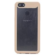 Ốp lưng Oppo F5 Trong, viền Gold
