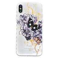 Ốp lưng iPhone X hoa bướm đen