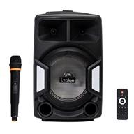 Combo Loa Bluetooth Karaoke i.value F38 Nhựa đen + Mic không dây
