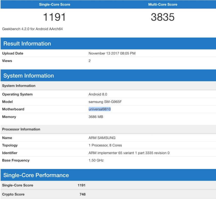 Galaxy S9 Plus bất ngờ xuất hiện, nhưng RAM chỉ 4GB
