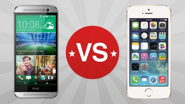 iPhone-vs-HTC-One