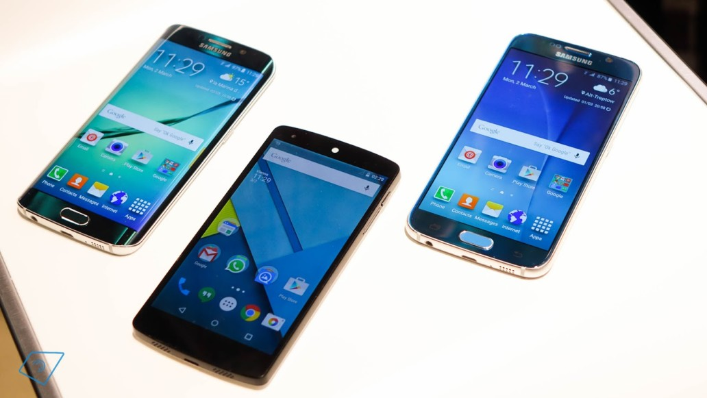 So sánh Samsung Galaxy S6 vs S6 Edge vs Nexus 5