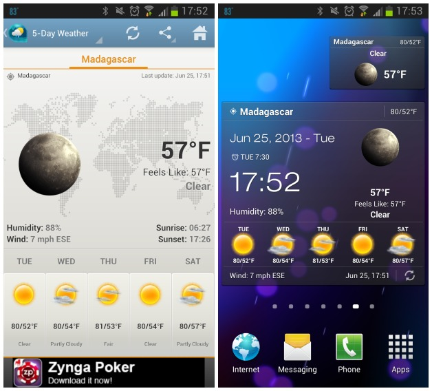 Android-Weather-Clock-Widget