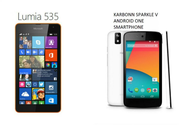 So sánh Microsoft Lumia 535 với Sparkle V Karbonn Android One