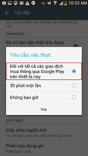 Cài đặt mật khẩu cho CH Play-4