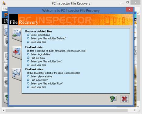 phần mềm PC Inspector File Recovery