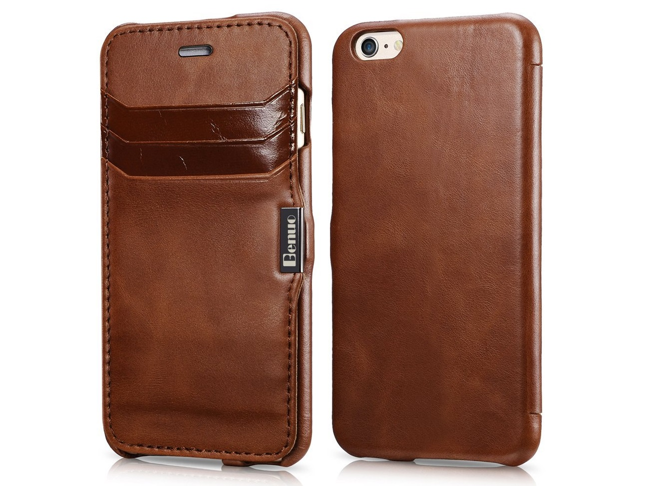 Benuo Genuine Leather Folio Flip Corrected Grain Leather Case