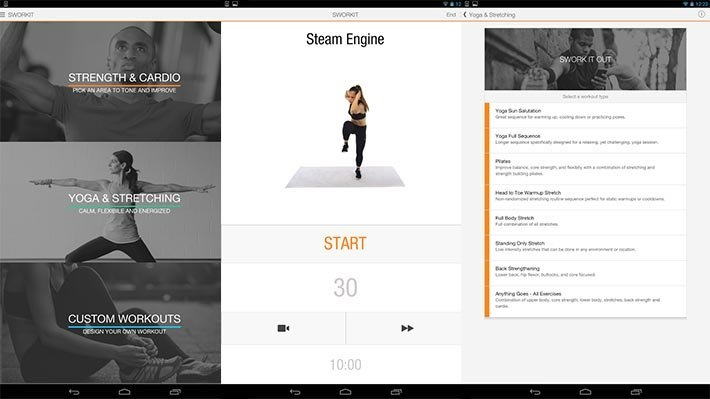 ứng dụng Sworkit Personal Trainer