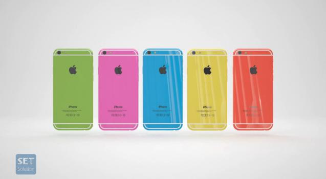 Thiết kế mặt sau của chiếc điện thoại iPhone 6C phiên bản concept