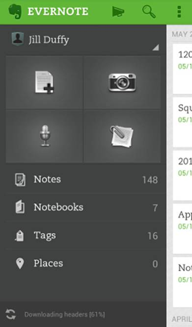 Ứng dụng Evernote
