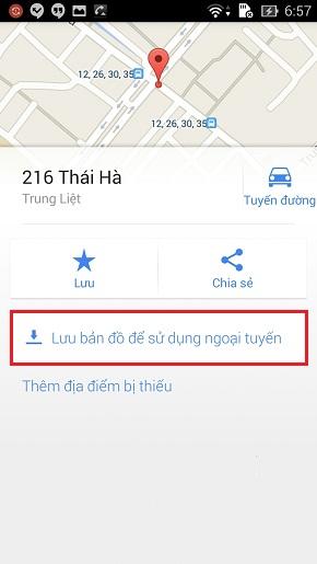 Sử dụng Google Maps khi không thể kết nối internet