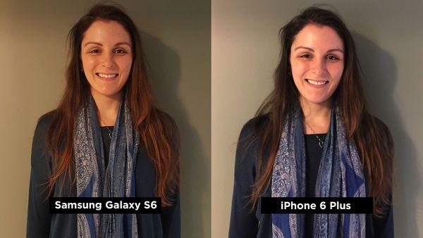 Ảnh giữa Samsung Galaxy S6 và iPhone 6 Plus