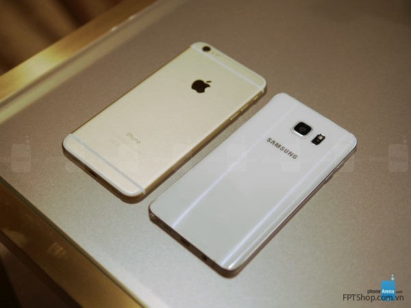 Samsung Galaxy Note 5 với iPhone 6 Plus