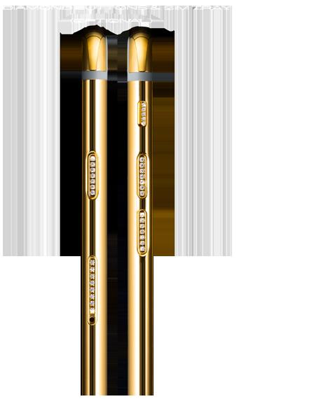 Cạnh bên của iphone 6s mạ vàng (Ảnh Cnet)