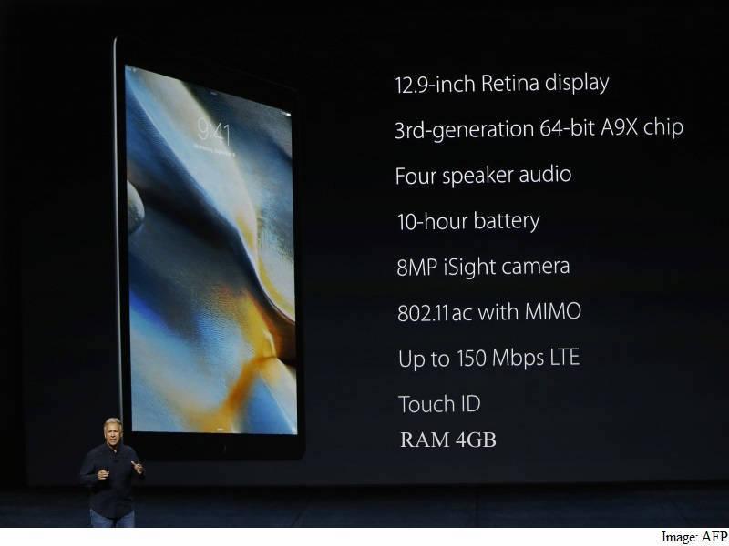 dung lượng ram của iPad Pro
