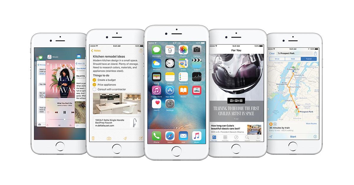 Apple cập nhật iOS 9 3