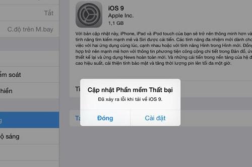 Trợ giúp xử lý sự cố khi nâng cấp iOS 9 1