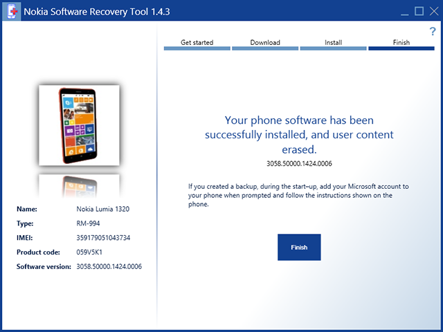 Công cụ Nokia Software Recovery tool