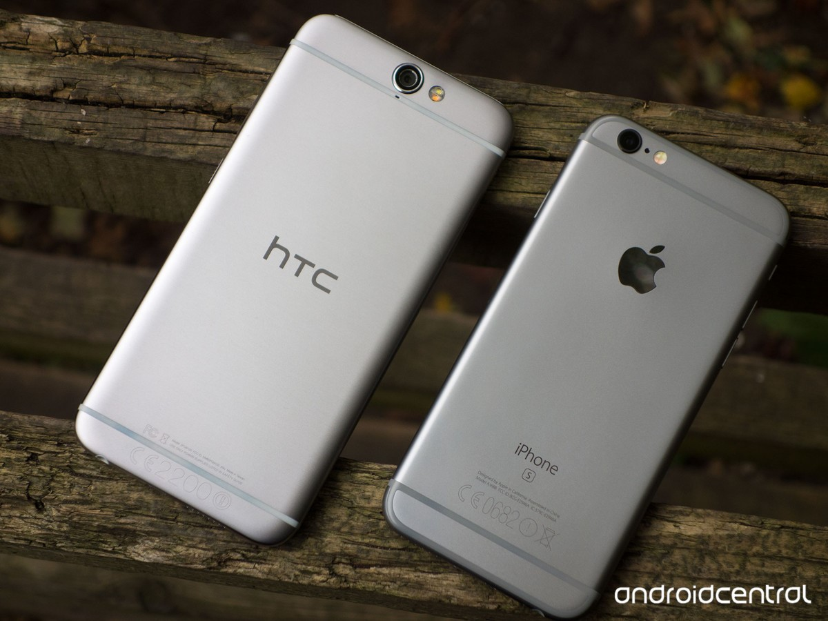 iPhone 6s đặt cạnh HTC One A9
