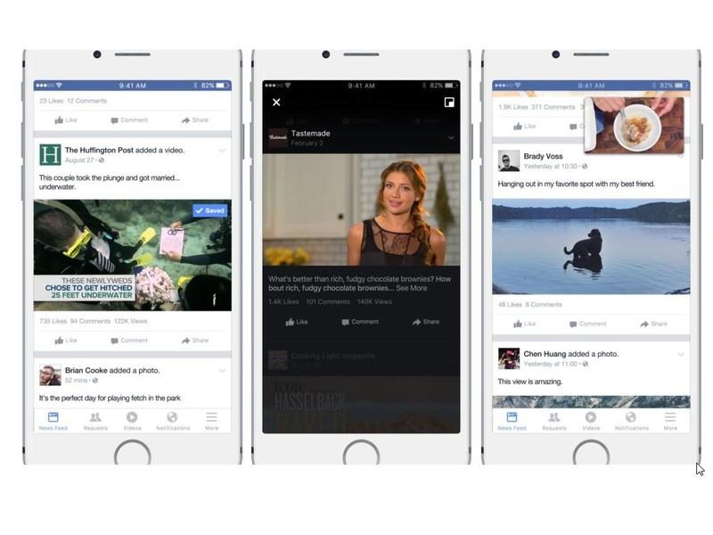 Tính năng mới phát triển tương tác giữa người dùng và video trên Facebook