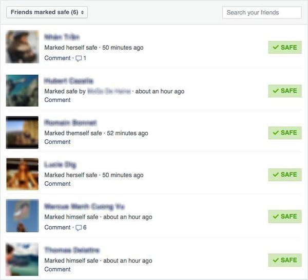 Xác nhận an toàn với Safety Check trên Facebook sau khủng bố