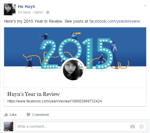 Giới trẻ với Facebook Year In Review 2015