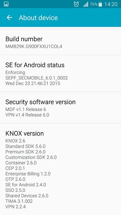 Samsung Galaxy S5 bất ngờ được cập nhật Android 6.0.1 beta 15