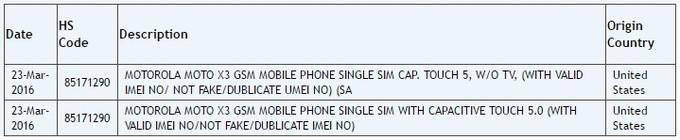 Smartphone 5 inch của Motorola: Moto X3 sắp lộ diện 3