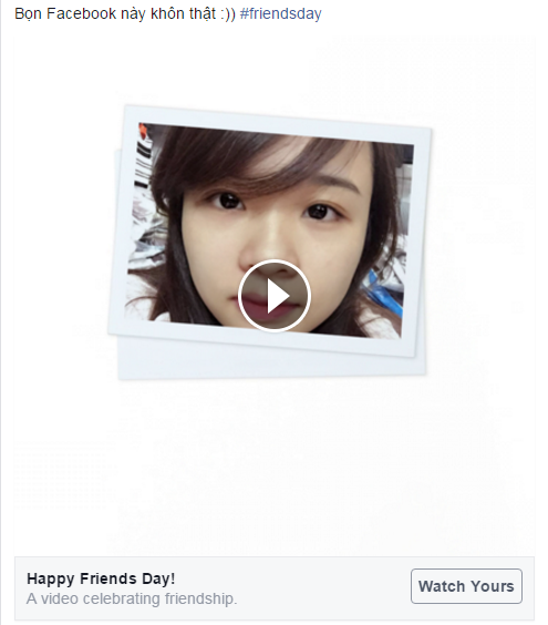 Happy Friends Day với Facebook