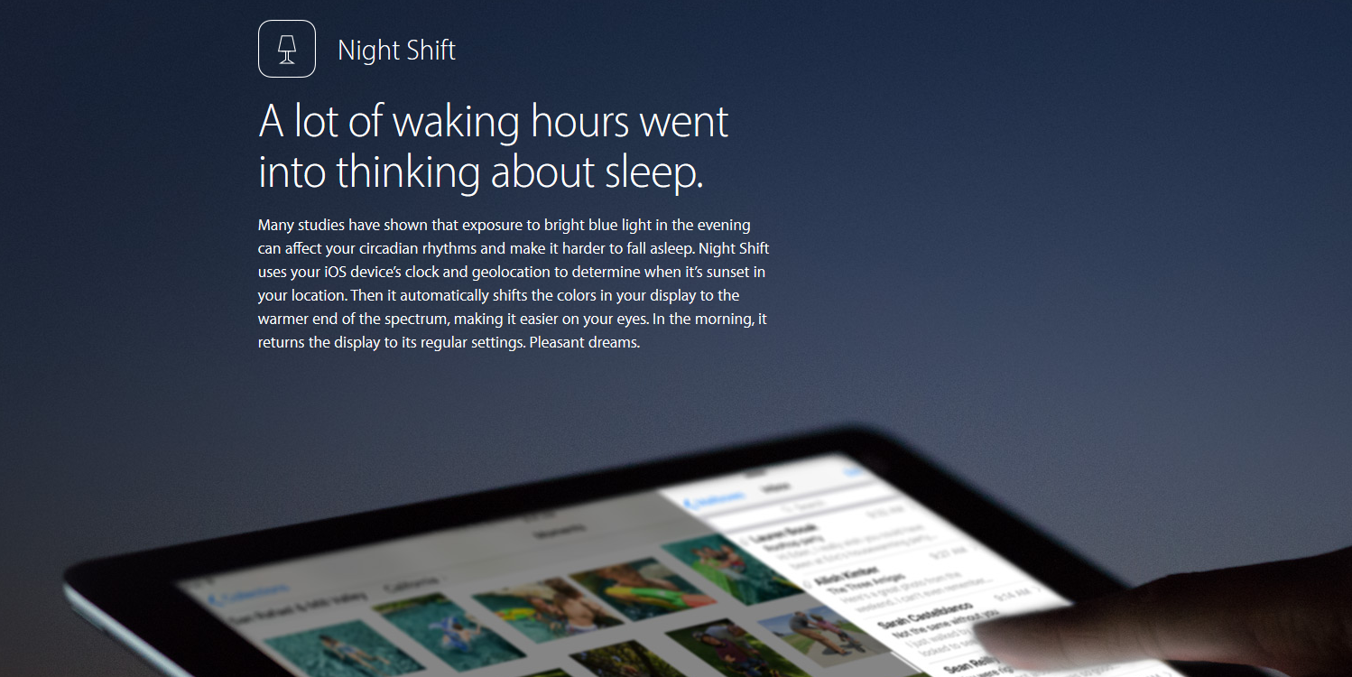 Ra mắt bản iOS 9.3 beta 2 Apple bổ sung nút Night Shift vào Control Center