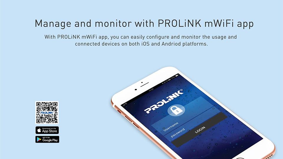 Tiện dụng với phần mềm quản lý Prolink mWiFi