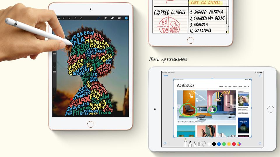 Hệ điều hành iOS mượt mà và cập nhật liên tục trên iPad mini 5