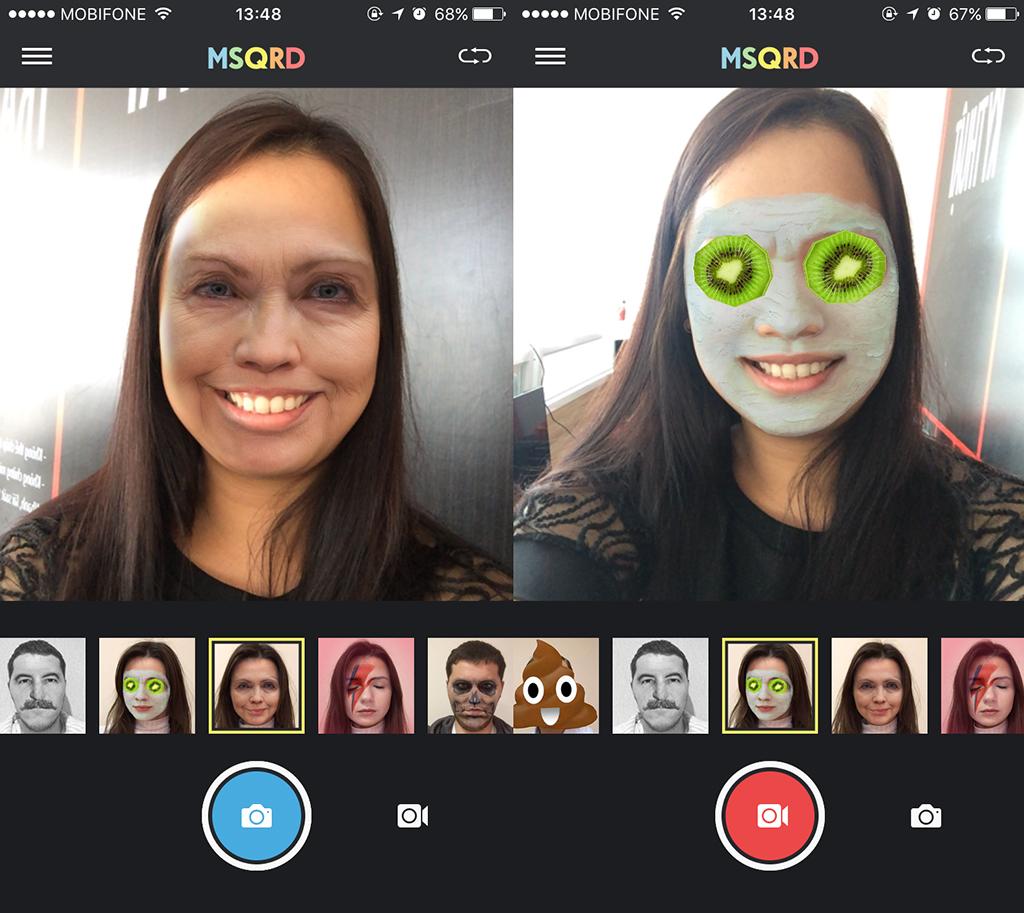 MSQRD - Ứng dụng selfie thực tế ảo cực độc cho iOS