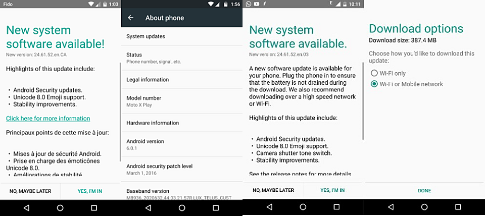 Moto X Play chính thức nhận được Android 6.0.1
