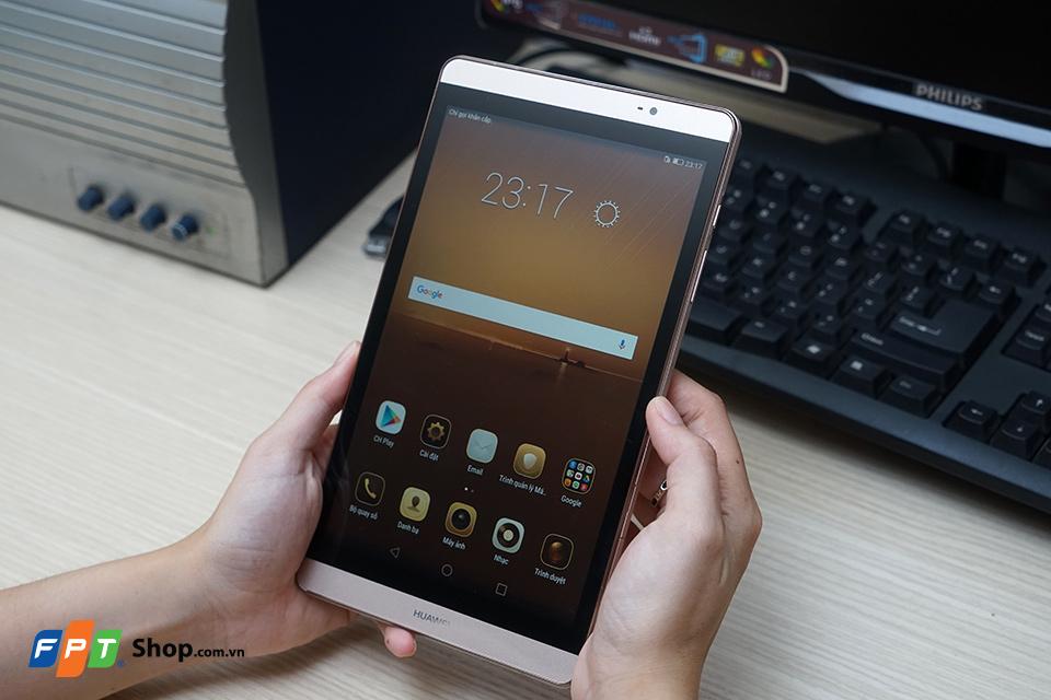 Trên tay máy tính bảng kiêm điện thoại Huawei MediaPad M2 8.0