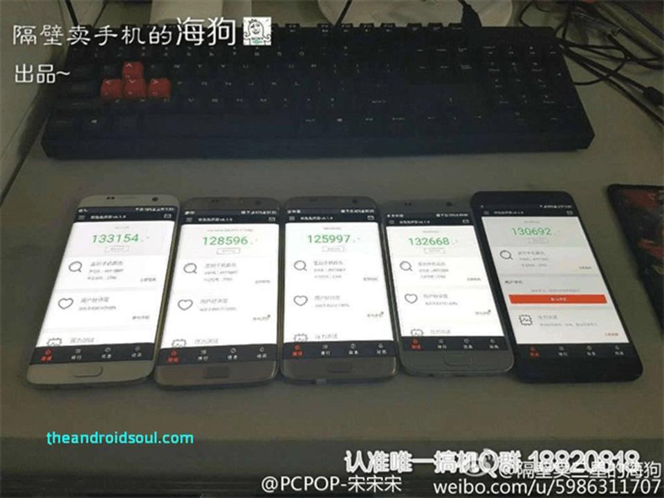 Hình ảnh Galaxy Note 7 đọ điểm Benchmark với Galaxy S7 / S7 edge