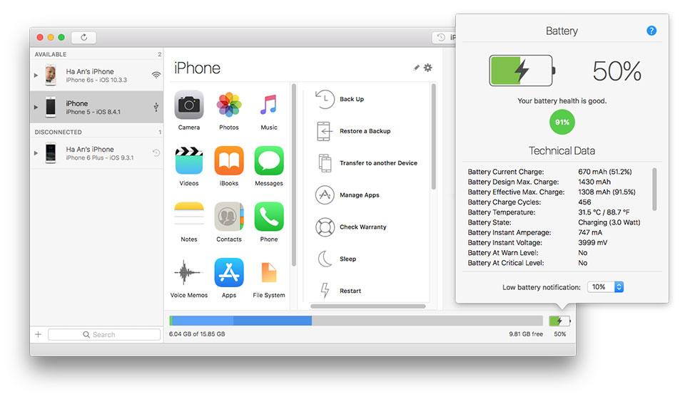 Làm sao để kiểm tra pin iPhone có cần thay không?