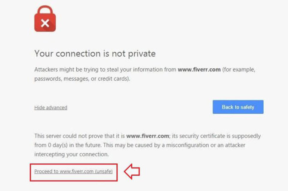 "Khắc phục lỗi ""Your connection is not private"" trên Chrome3"
