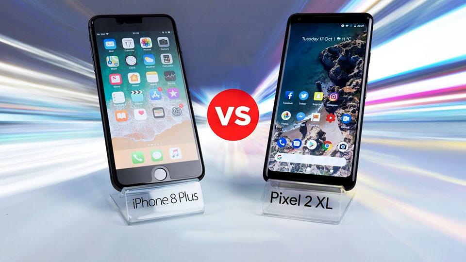 Đọ độ bền của iPhone 8 Plus vs Pixel 2 XL