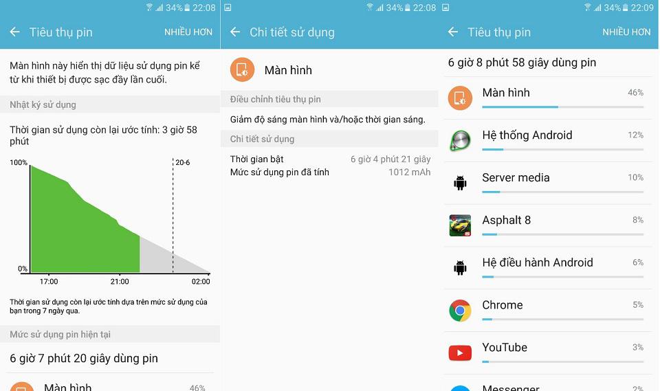 Đánh giá thời lượng sử dụng pin của Galaxy S7