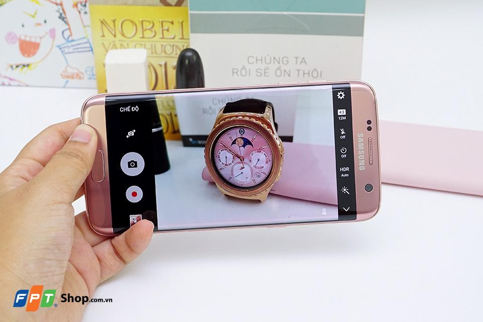 Trên tay Samsung Galaxy S7 edge vàng hồng nam tính tại FPT Shop