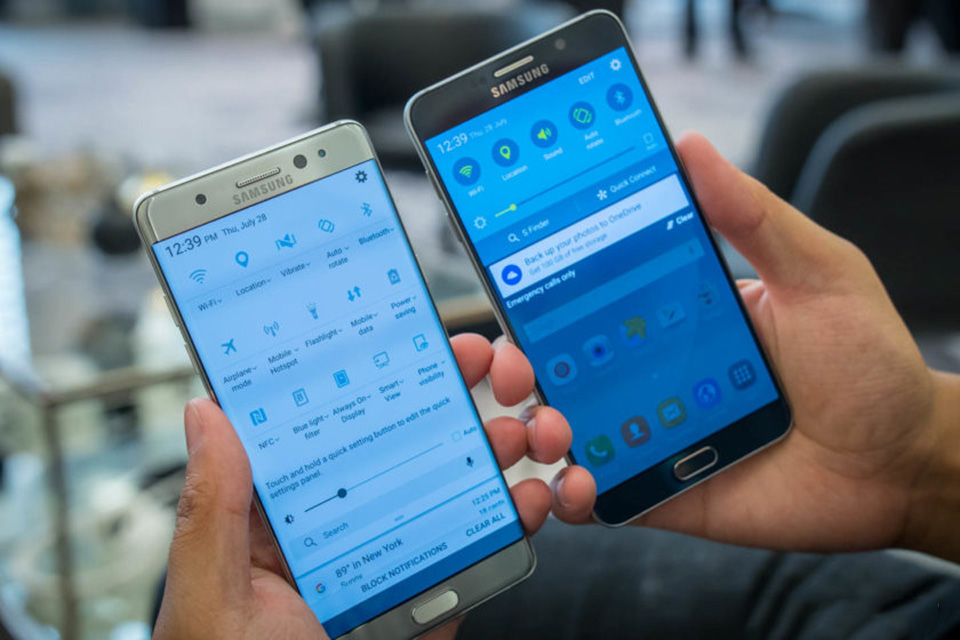 So sánh Samsung Galaxy Note 7 vs Galaxy Note 5