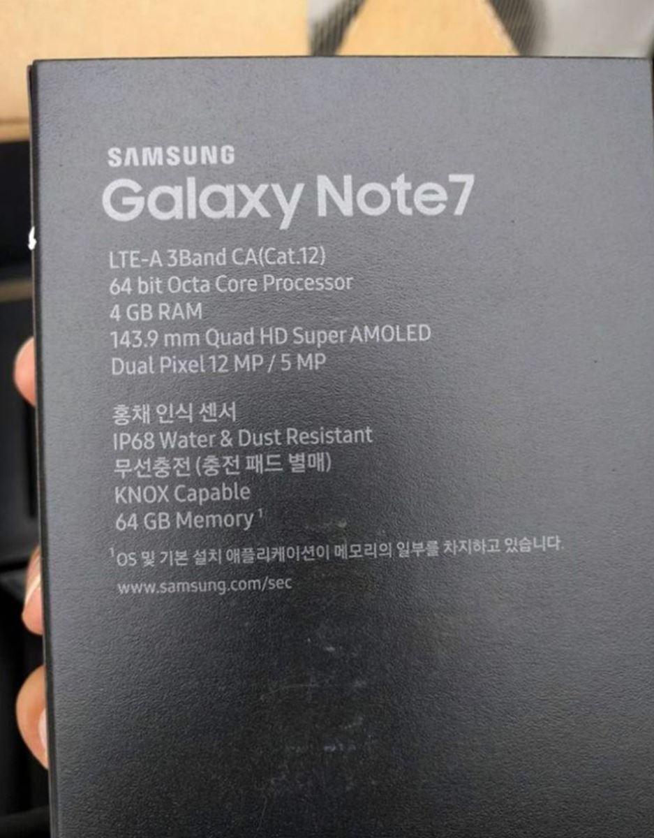Lộ hộp và thông số kĩ thuật chính xác của Samsung Galaxy Note 7 Những chiếc Note 7 mà Samsung đem tới sự kiện Unpacked 2016 tối nay.