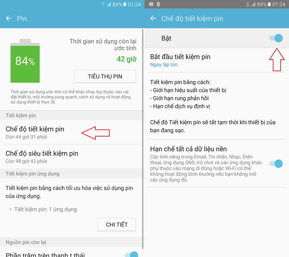 Hướng dẫn tối ưu hóa pin trên Samsung Galaxy A9 Pro