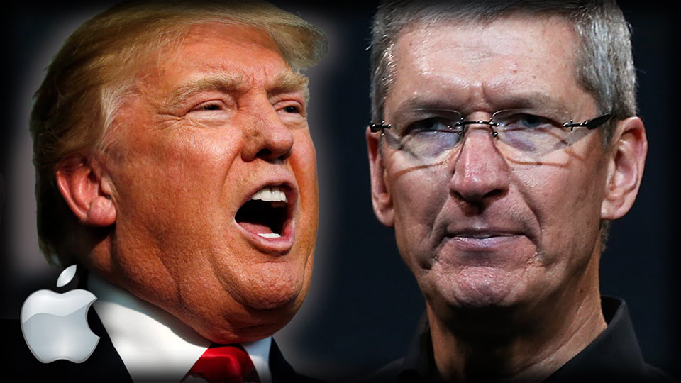 Tim Cook và Donald Trump