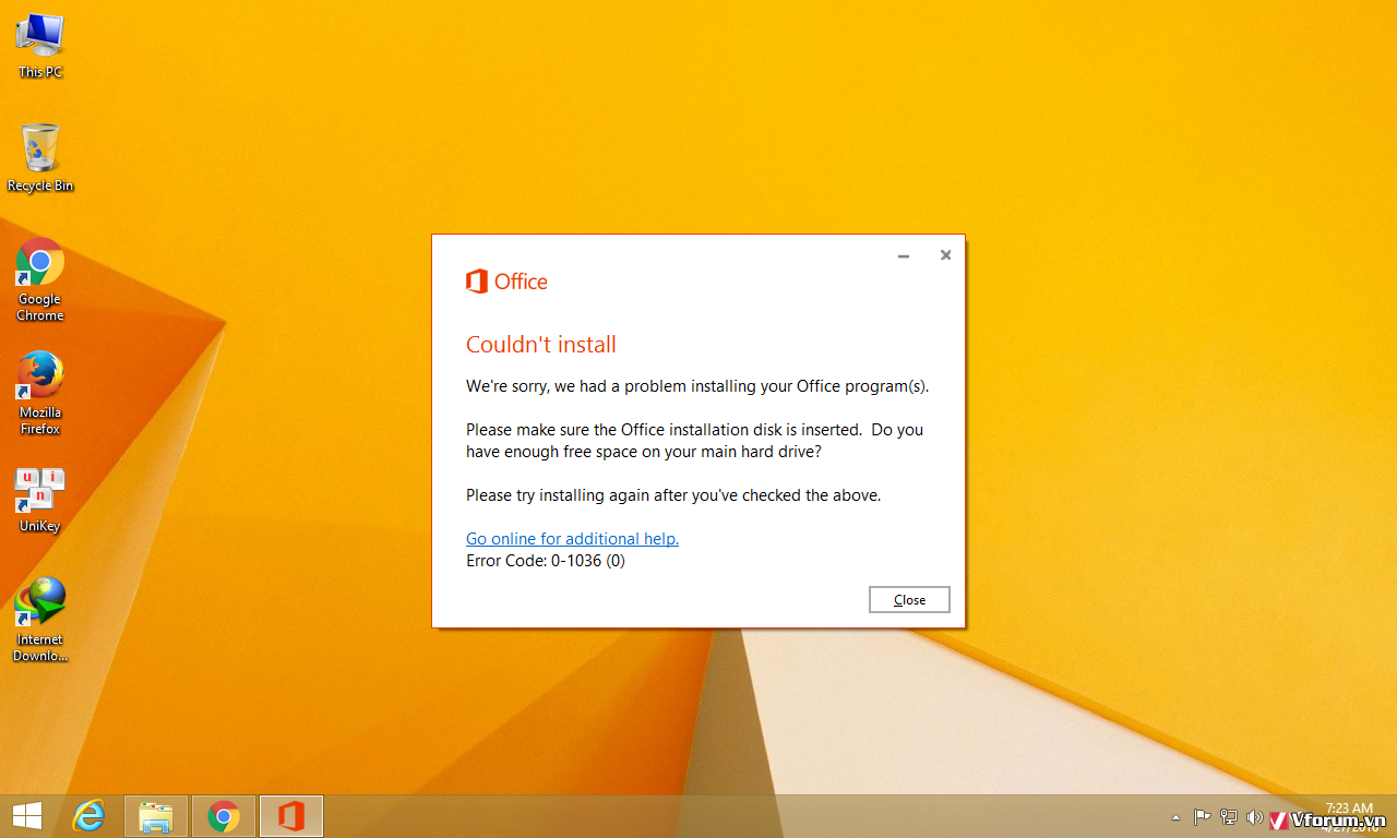 lỗi microsoft office professional plus 2010 cannot verify the license for this product