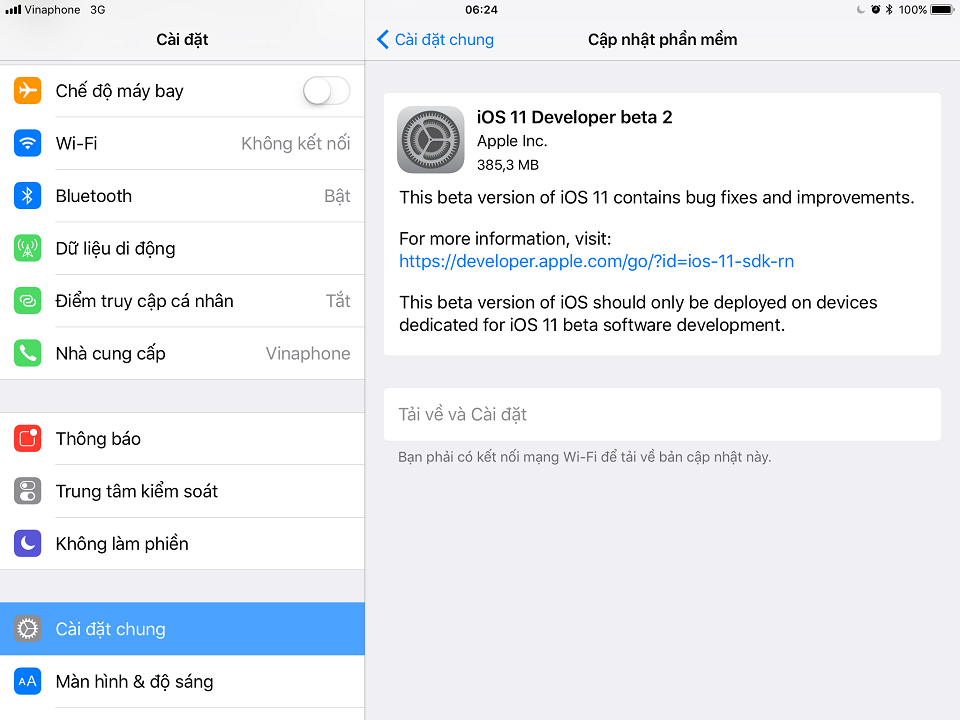 Apple phát hành iOS 11 beta 2