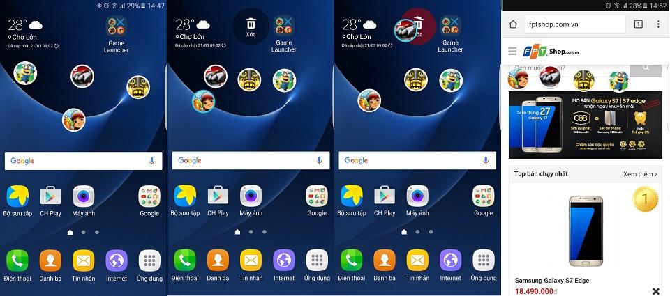 Tìm hiểu các tính năng của Game Launcher trên Galaxy S7/S7 Edge