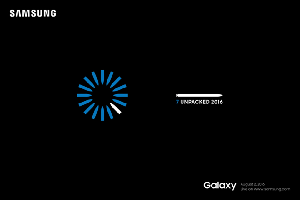 Samsung gửi thư mời sự kiện ra mắt Galaxy Note 7